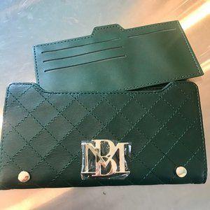 Badgley Mischka Vegan Leather Wallet - Green - NWT